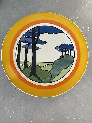 Clarice Cliffe Bizarre Limited Edition Plate 'blue Firs' By Wedgwood • 10£