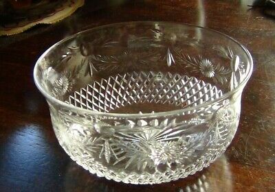 Hand Cut Lead Crystal  Dessert Or Fruit Bowl - Top Quality • 4.95£