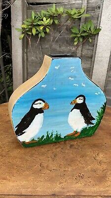Beautiful Vintage Puffin Vase Hand Painted By J E Roberts *  • 54.99£