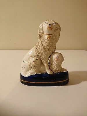 Staffordshire Poodle With Pups Ornament • 50£