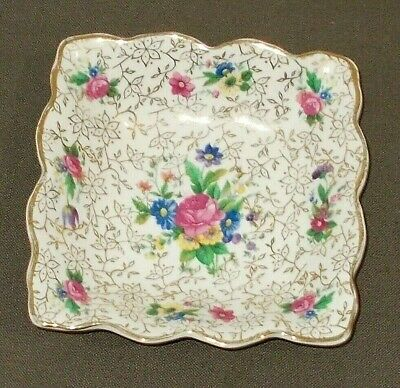 Vintage Chintz Midwinter Dish With Pink Flowers & Gilt Decoration Good Condition • 12.99£