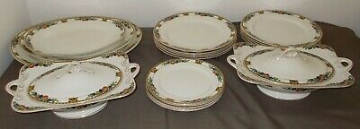 Antique 21 Piece John Maddock Part Dinner Service Has Unusual Tureens With Reg # • 39.99£