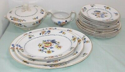 Antique English 21 Piece Dinner Service Stamped Stoke On Trent In Good Condition • 39.99£