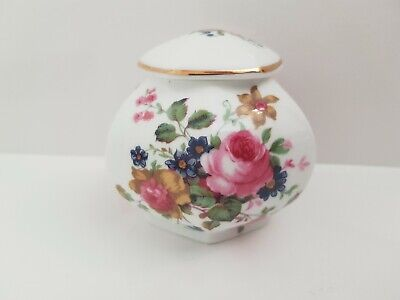 Crown Fine Bone China Trinket Box With Lovely Floral Design • 4.49£