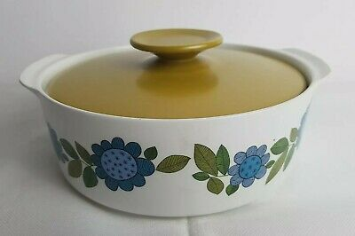 J And G Meakin Topic Blue Flower Retro Vintage Serving Tureen 1960s • 14.99£