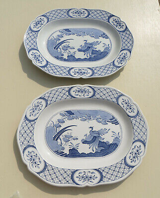 2 Furnivals Old Chelsea 15.5  Platters - Blue & White - Rd 647812  • 29.99£