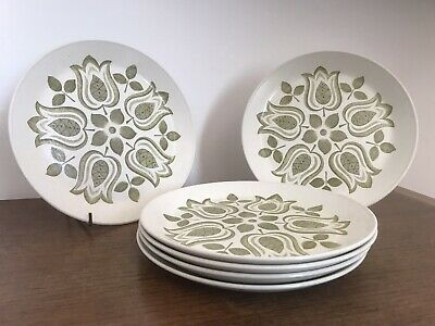 "Set 6 J & G Meakin Maidstone TULIP TIME 7"" Side Plates • 14.99£"