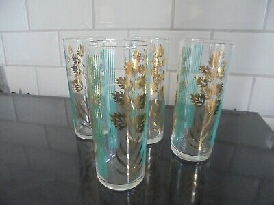 Set Of 4 1950s Vintage Lemonade/Hi-Ball Glasses 1/2 Pint Capacity. • 10£