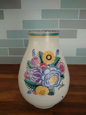 Poole Pottery Shape 337 Large Yp  Pattern Vase By Ruth Pavely. • 69.99£