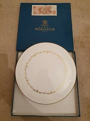 ROYAL WORCESTER ORIGINAL Cake Plate - Gold Chantilly, 10 Shilling Note England • 0.99£