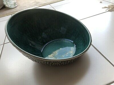 BESWICK DISPLAY BOWL Unusual LARGE OVAL SLANT Angled Design 1988 Nature Design • 29.99£