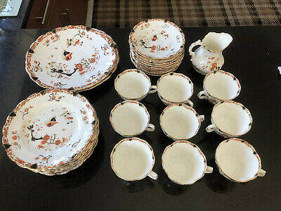 Vintage Charles Allertons Fine Bone China 'bow' Dinner Service 423421 • 59.99£