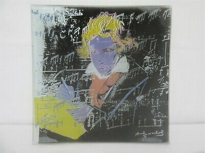 Rosenthal Studio Line Andy Warhol Beethoven Printed Square Glass Plate • 25£