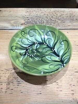 Gwili Pottery - Superb Green Foliage Signed Pru Green - Excellent • 15£