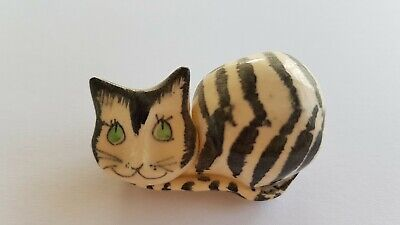Black And White Stripey Cat Vintage Ornament By Philip Laureston, 1970s  • 1.50£