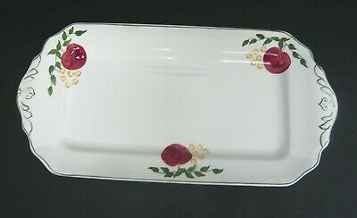 Antique Early 1900s Morley Fox & Co Ltd Hand Painted Pottery Sandwich Plate • 3.50£