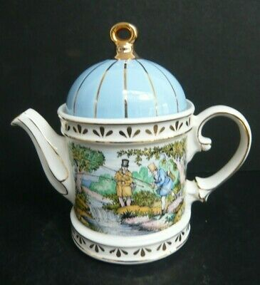 """Sadler Collectors Teapot """"Sporting Scenes Of The 18th Century  Fishing"""" 4398 • 12.50£"""