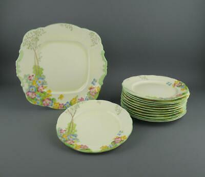 12 X Paragon Cake Plates & Serving Plate Replica Of Service Made For Queen C1933 • 49.95£