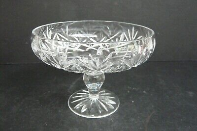 Pretty Vintage Footed Crystal Sweet Dish • 4.50£