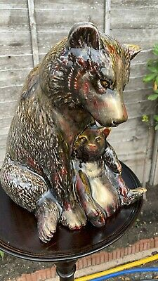 Beautiful Large Signed Anita Harris Art Pottery Hand Made Hand Painted Bear ** • 144.99£