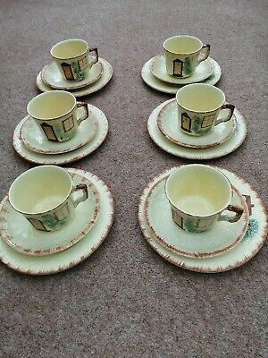 Keele Street Pottery Cottage Ware 6 Cups, Saucers And Plates • 10£