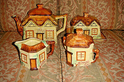 Keele Street Pottery Hand Painted Cottage Ware X 4 • 14£