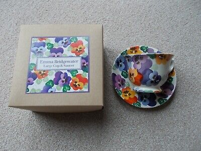 Emma Bridgewater Large Cup And Saucer, Excellent Condition • 9.50£
