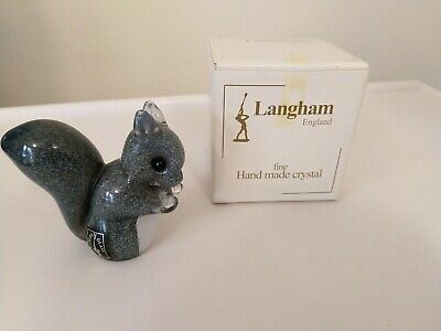 Langham Glass Small Gray Squirrel With Box • 25£