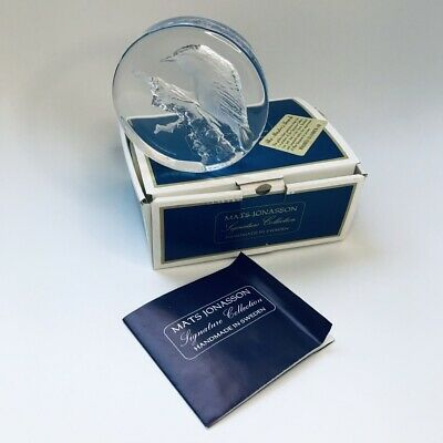 Mats Jonasson Signature Collection Signed Bird Crystal Paperweight Mint In Box • 19.99£