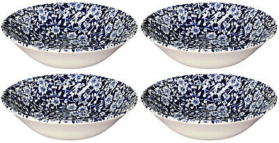 ROYAL WESSEX BY CHURCHILL VICTORIAN CALICO 4 X CEREAL BOWLS 16.5cm - NEW/UNUSED • 29.50£