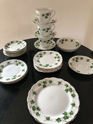 Colclough 'Ivy Leaf' JOB LOT BREAKFAST CUP AND SAUCERS , Bowl Various • 3.99£