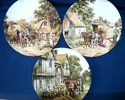 Three (3) ROYAL DOULTON  THE COUNTRYSIDE REMEMBERED  COLLECTOR PLATES. Exc Cond • 9.95£
