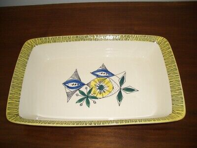 A Stavengerflint Norway Large Serving Dish,  Flamingo  Pattern By Inger Waage. • 24£