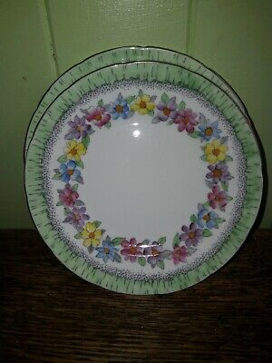 Foley China, Vintage Chic, Delightful Pretty Floral 2 Side Plates Vgc. • 5£