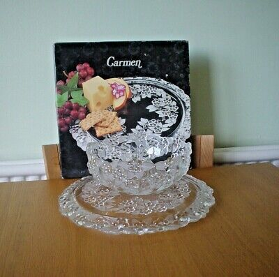 Carmen Walther Glass Cake PLate & Serving Bowl • 20£