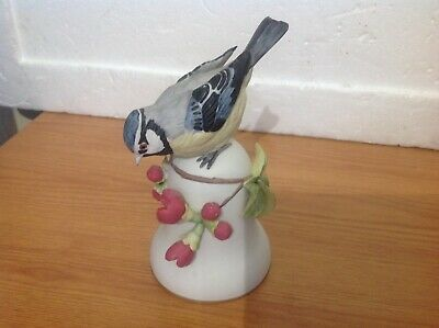 Franklin Mint The Blue Tit Porcelain Bell By Peter Barrett A/F • 4.99£