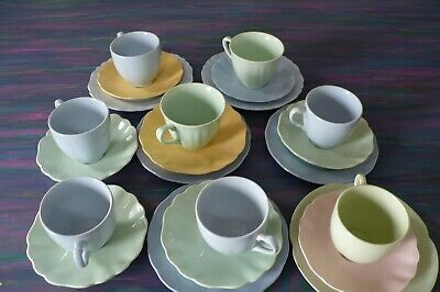 Vintage Meakin Cups And Saucers Mismatch X 8 + Plates X 5 • 12£