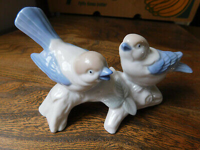 Blue Birds On Branch, Possibly Russian • 2£