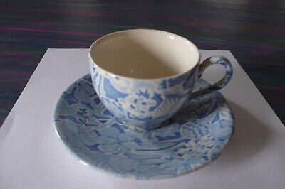 Vintage Burleigh Coffee Cup And Saucer, By Lillian Delevoryos • 4£