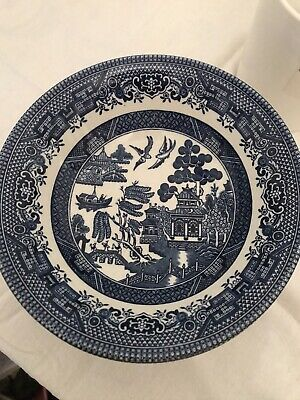 5 X  Churchill Willow Pattern Cereal Bowls • 10.50£