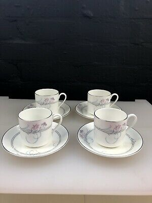 4 X Royal Doulton Allegro Coffee Cups And Saucers 2 Sets Available • 14.99£