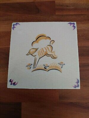 Poole Pottery Carters Nursery Tile Depicting A Lamb • 39.99£