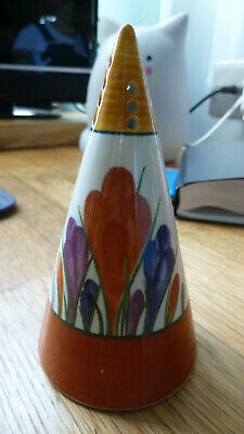 Clarice Cliff Sugar Sifter, Crocus By Bradford Exchange, Excellent Condition. • 17.50£