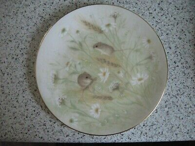 Royal Doulton 'Country Life' Harvest Mice 8.25'' Plate, Very Good Condition • 2.99£