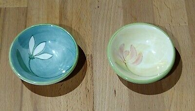 Two Jersey Pottery Pin Dishes , Snowdrop And Honeysuckle • 5.99£