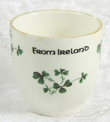 Carrigaline Pottery Egg Cup Shamrock Design Breakfast Item Collectable  • 0.99£