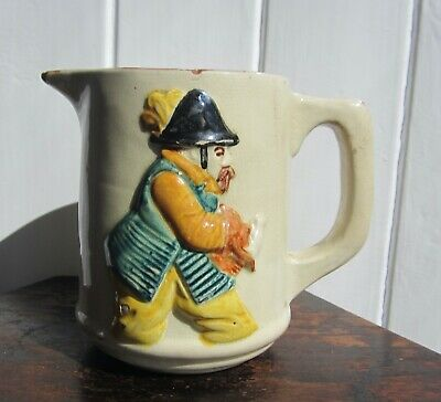 Antique CH Brannam Barum Barnstaple Jug With Character Figure  • 35£