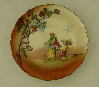 ROYAL DOULTON Gleaners And Gypsies Bowl D4983  Early 1900s • 11.25£