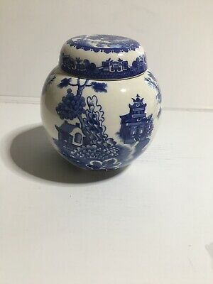 Willow Pattern Tea Caddy Made For Twinings • 14.10£