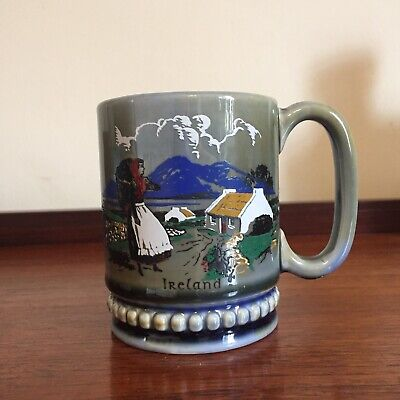 Vintage Wade Irish Porcelain Countryside Coffee Mug Cup Ireland • 5£